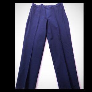Isaac Mizrahi 24/7 stretch pants in dark navy blue